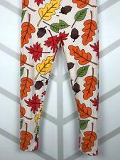 Fall Leaves & Acorns Leggings Tall & Curvy Yoga TC Buttery Soft Free Shipping