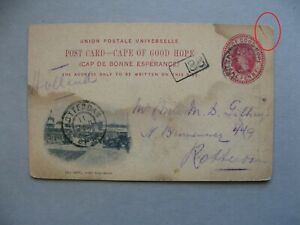 CAPE OF GOOD HOPE, ill. prestamped PC to the Netherlands 1902