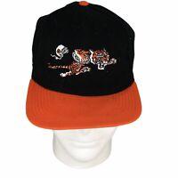 New Era Cincinnati Bengals 1968-69 Logo Black Hat Running Tiger Snapback 9Fifty