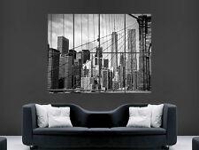 BROOKLYN BRIDGE POSTER NEW YORK CITY USA MANHATTAN WALL ART LARGE SKYSCRAPERS