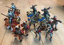 Papo - Oriental Medieval Knights/Horses Conquistador Swiss Guard - 15 Figures