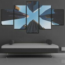 Blue Sky City Architecture 5 piece HD Art Poster Wall Home Decor Canvas Print