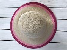 Nwt Gymboree Straw Hat Bright Rose Girls 0-6 6-12 Easter Sun Hat