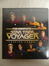 The Complete Star Trek Voyager 2002 Base set Binder Portraits Quotables Promos