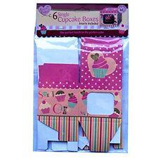 Scatole Per Cupcake Single-Confezione da 6 Inserti Inclusi Muffin Lusso Scatola Regalo qc1143