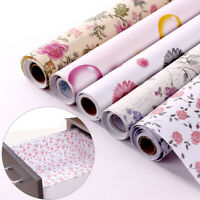 Floral Wall Paper Vinyl Self Adhesive Stickers Roll Drawer Shelf Liner Decor