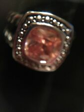 topaz size 5 Excellent and pretty Designer style fashion ring silver tone