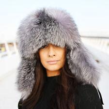 Silver Fox Fur Trapper Hat