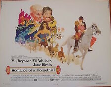 ROMANCE OF A HORSETHIEF half sheet movie poster 22x28 BRYNNER BIRKIN McGINNIS NM