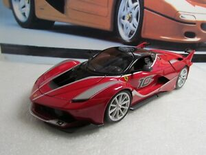 BURAGO - FERRARI FXXK - RED -  1/18 SCALE MODEL CAR - UNBOXED