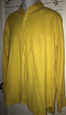 Paul & Shark Yachting Vintage Bright Yellow Cotton Oxford Shirt Italy XL L ?