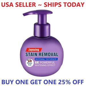 Intensive Stain Removal Teeth Whitening Toothpaste Bleeding Gums Passion Fruit