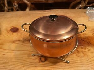 Copper pot with stand and lid