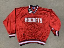 d7107be5567 Player  Charles BarkleyProduct  Action Figure. STARTER Vintage Men Houston  Rockets Pullover Warmup Shooting Sweater NBA Sz L