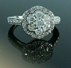 0.75ct Diamond cluster engagement  ring