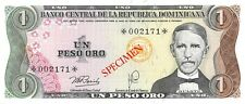 Dominican Republic 1  Peso  1978  P 116s    Specimen  Uncirculated Banknote MSp