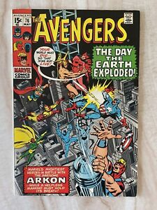 AVENGERS #76-1ST MEETING OF VISION AND SCARLET WITCH-BLACK PANTHER VF+ 8.5