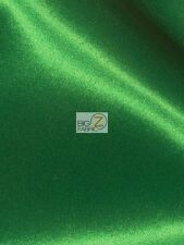 SOLID CREPE BACK SATIN FABRIC - Green - BY THE YARD DRESS GOWN HOME DECOR BRIDAL