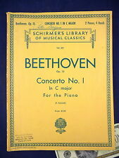 BEETHOVEN Sheet Music Book 621 Concerto No.1 in C Major for 2 Piano Schirmer