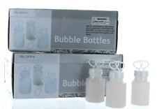 24 White Double Heart Wedding Bubbles Bridal Favors