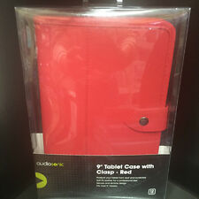 "Audiosonic 9"" Red Tablet Case With Clasp - Protect from scratches and dust"