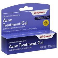 Walgreens Acne Treatment Gel 10% Benzoyl Peroxide 1 oz 28g  UK Seller