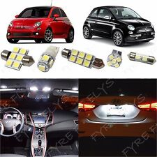 3x White LED lights interior package kit for 2012-2017 Fiat 500 #F51W
