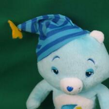 2008 BABY BOY BLUE BEDTIME SLEEPY EYES PAJAMA HAT CARE BEAR PLUSH STUFFED ANIMAL