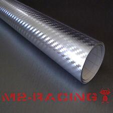 "4"" x 8"" SAMPLE SILVER CHROME Carbon Fiber Vinyl Wrap Sticker Decal Sheet Film"