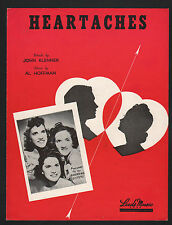 Heartaches 1942 Andrews Sisters  Sheet Music