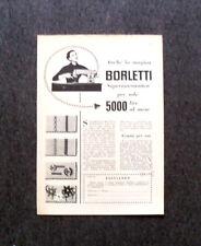 L570- Advertising Pubblicità -1957- BORLETTI MACCHINA DA CUCIRE,SUPERAUTOMATICA