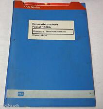 Reparatiebrochure VW Passat B3 / 35i Elektrische installatie van 1988
