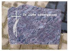 Grabstein, Liegestein, der Preis ist mit Inschrift und Ornament
