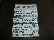 More details for crocs rayleigh 1983 original punk gig flyer the meteors serious drinking