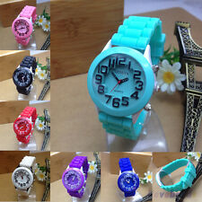 Kids Boys Girls Watch Fashion Silicone Jelly Rubber Quartz Wristwatch NEW