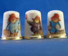 Birchcroft Thimbles -- Set of Three -- Early Paddington Bear