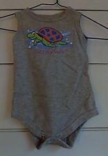 Boys Tank Top one piece Size 3/6 months Gray Turtle