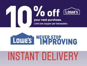 1 lowes 10% OFF INstore only__ Brand New
