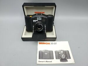 Minox 35 GT Compact Film Camera Minotar 35mm F2.8 Lens w/ Box, Manual - Untested