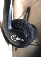 Northwest Airlines NWA Headphones Complimentary Vintage Pair Original Bag