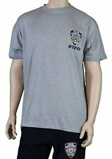 NYPD Short Sleeve T-Shirt with Embroidered Logo Gray