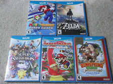Lot 5 Wii U GAMES The Legend of Zelda BOTW, Paper Mario, Smash Bros, Donkey Kong