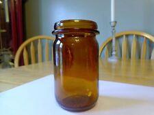 VINTAGE ANCHOR HOCKING BROWN GLASS JAR - #10-27