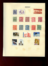 Norway Album Page Of Stamps #V5280