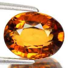 4.59 cts Natural Oval-cut TopFire-luster Brown VVS/IF beautiful Zircon(Cambodia)