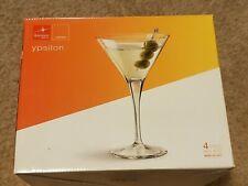 8 Vintage Martini Glasses Ypsilon  Bormioli Rocco Of Italy On Box