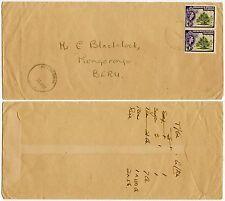 GILBERT + ELLICE INTER ISLAND MAIL BIKENIBEU Large Ring to BERU 2 x 1d FRANKING