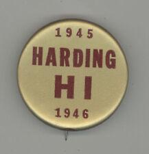 1945 HARDING SENIOR HIGH SCHOOL Pinback BUTTON Pin SAINT PAUL Minnesota ST MN