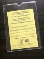 CDC INTERNATIONAL Certificate of Vaccination with large sturdy vinyl cover