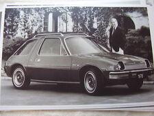 1976 AMC RAMBLER PACER  & ED MCMAHON  11 X 17  PHOTO   PICTURE